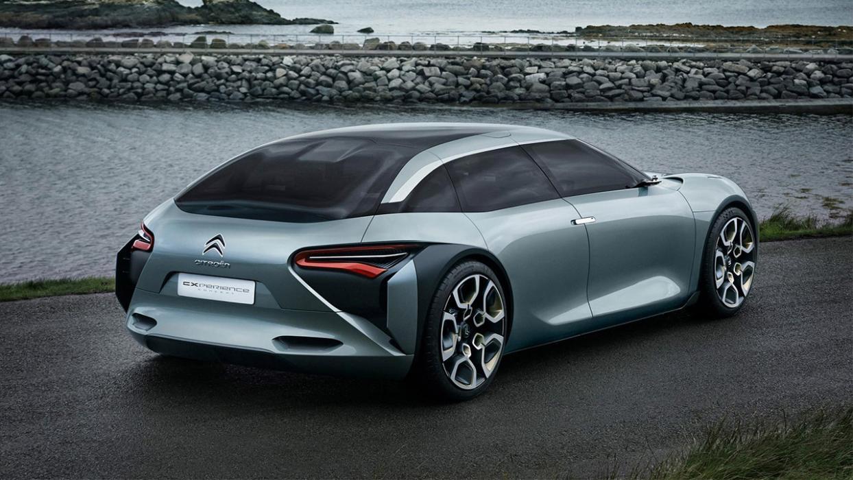 Citroën berlina eléctrica trasera