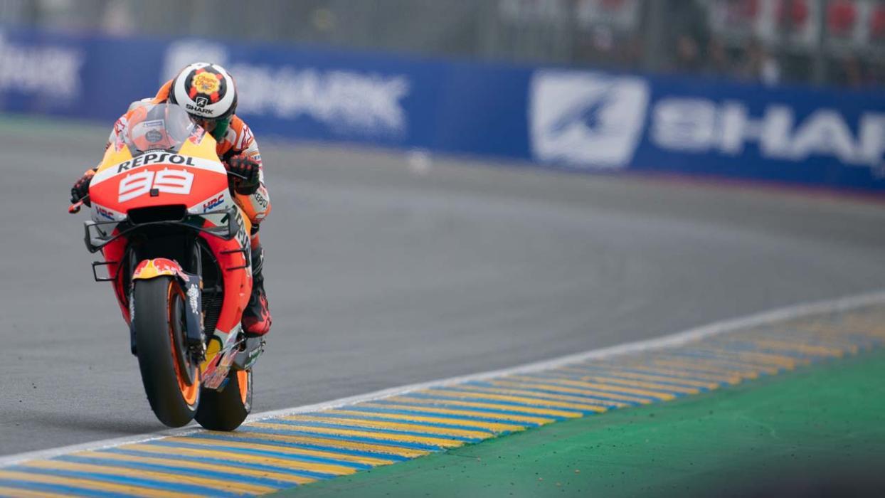 Jorge Lorenzo en febrero en Le Mans