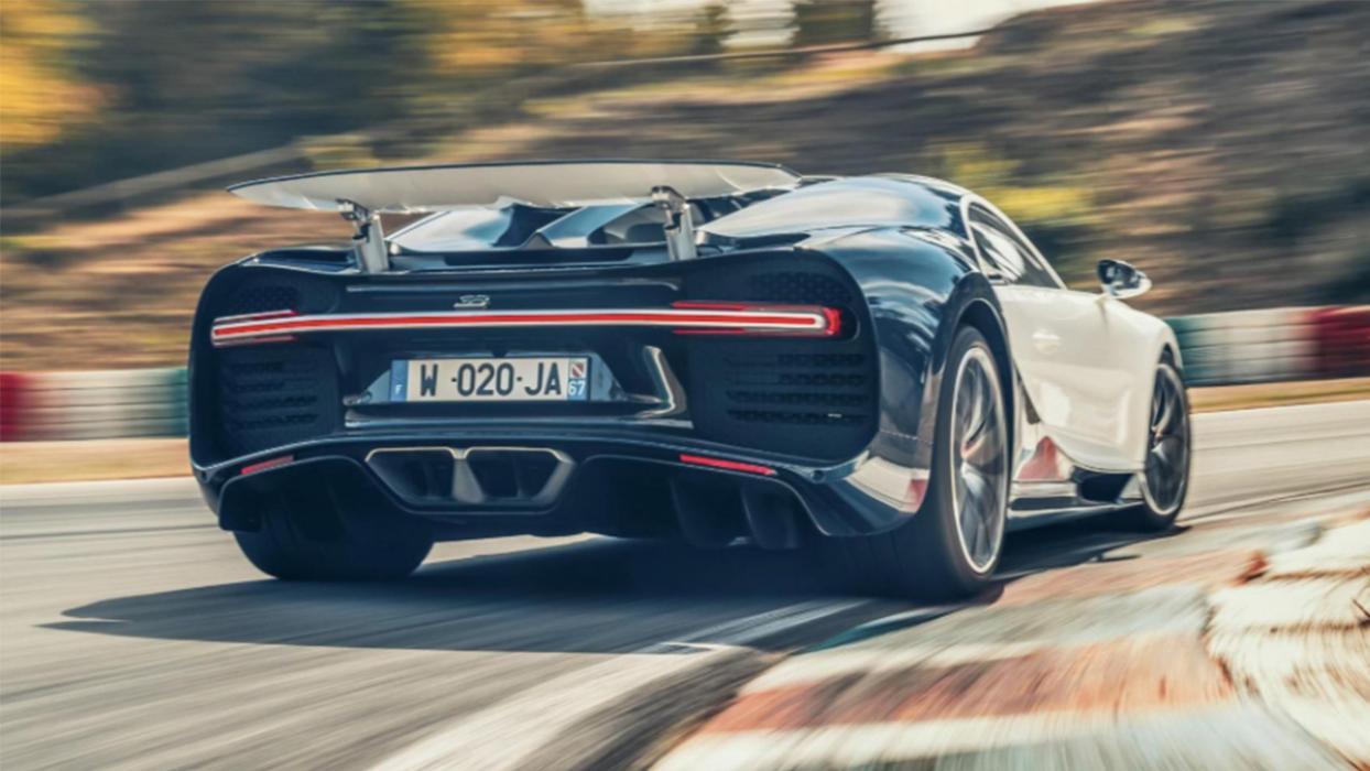Trasera del Bugatti Chiron