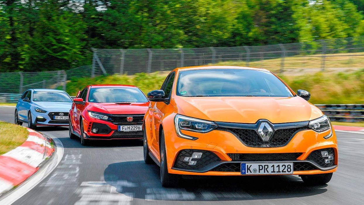 Comparativa: Hyundai i 30 N, Renault Mégane R.S. Trophy y Honda Civic Type R