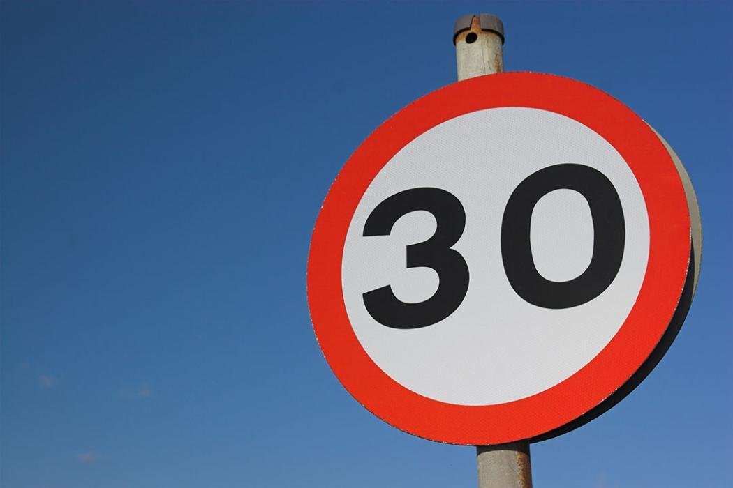 Límite de velocidad 30 km/h