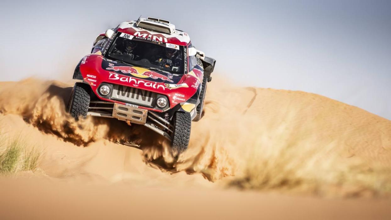 Sainz en el Rally de Marruecos