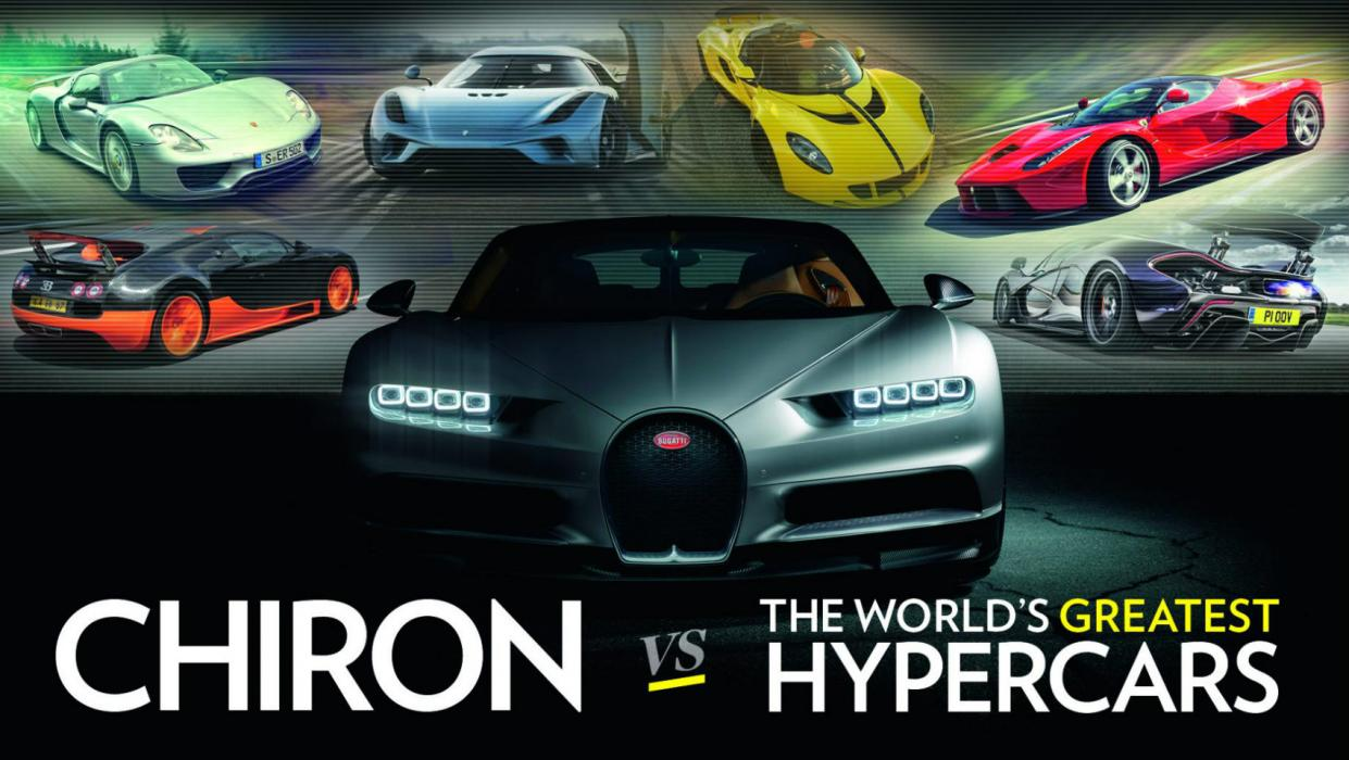 El Bugatti Chiron y sus rivales