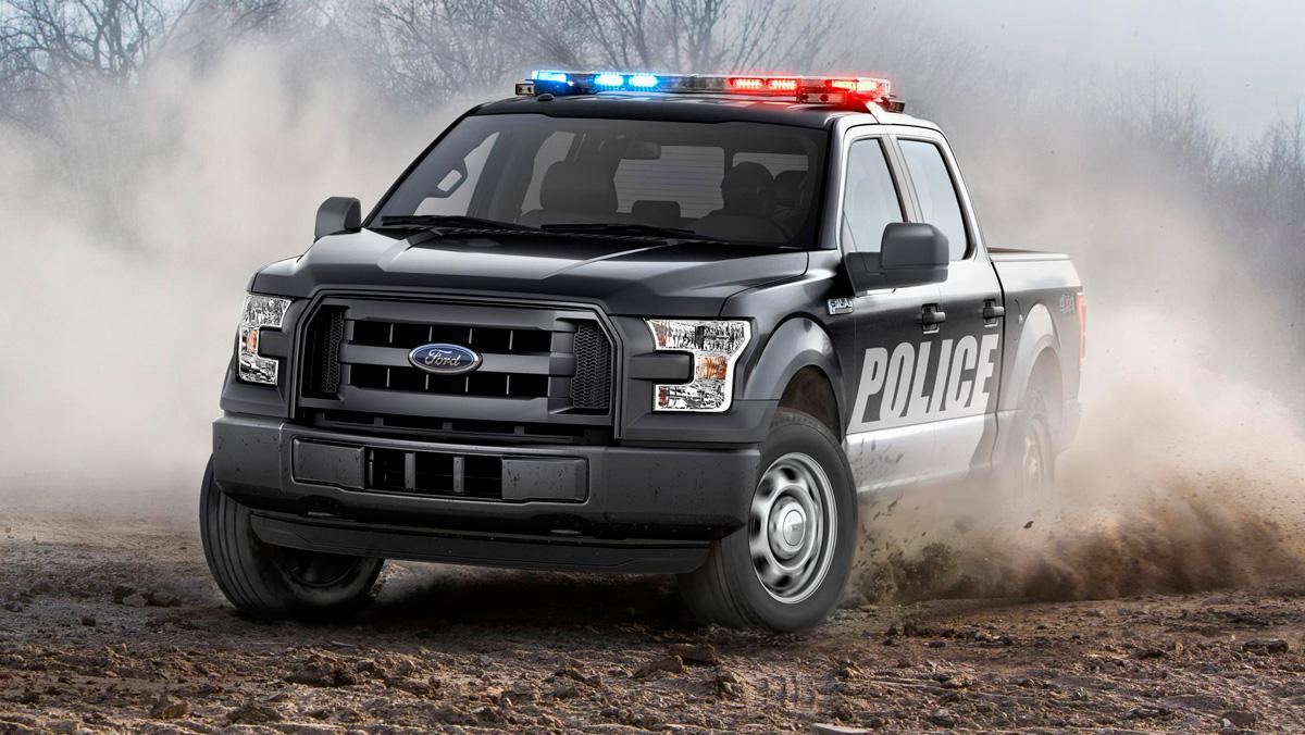 Ford F-150 Policía, frontal