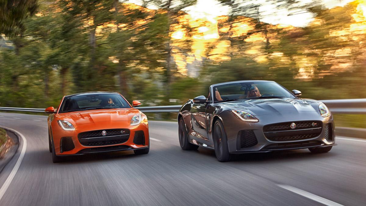 Jaguar F-Type SVR coupé y descapotable