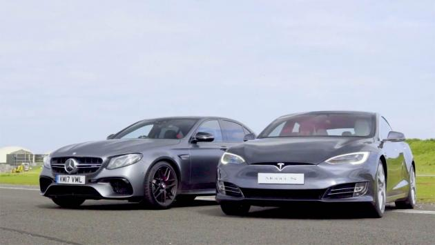 Drag Race: Mercedes-AMG E63 S 'vs' Tesla Model S P100D
