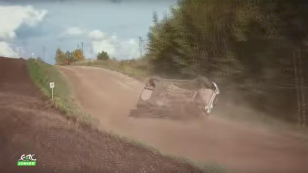 Vídeo: vuelca un coche de rallys