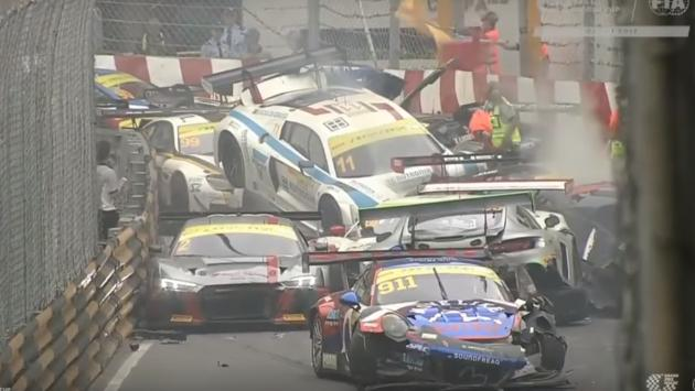 Accidente múltiple en Macao GT