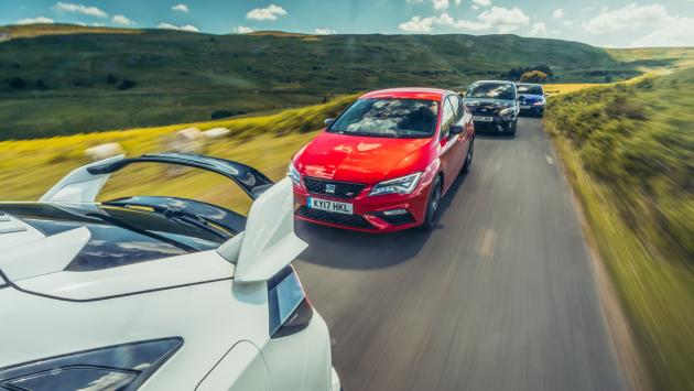 Comparativa Honda Civic Type R, Ford Focus RS, Volkswagen Golf R, Seat León Cupra
