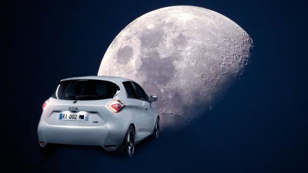 Renault Zoe viajando a la luna