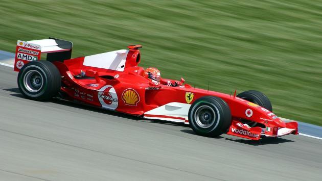 El Ferrari F2004 de Michael Schumacher