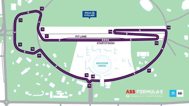 Santiago E-prix circuito