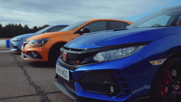 Carrera de aceleración: Honda Civic Type R contra Hyundai i30N y Renault Megane RS Cup