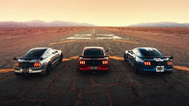 Ford Shelby GT500 trasera