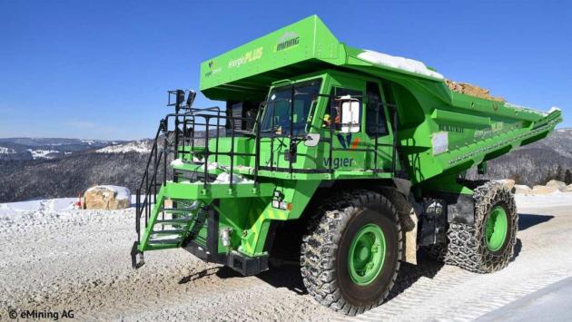 vehiculo electrico mas grande enorme electricos electricidad industria pesada