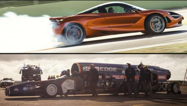 Bloodhound SSC vs McLaren 720S