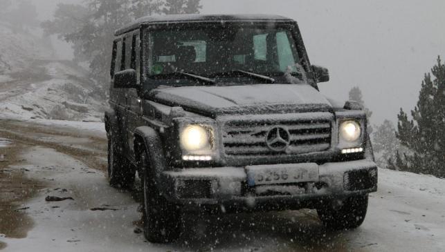 Prueba del Mercedes Clase G G350d todoterreno off-road nieve lujo