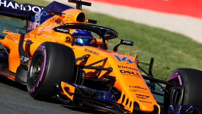 Alonso en acción en territorio aussie