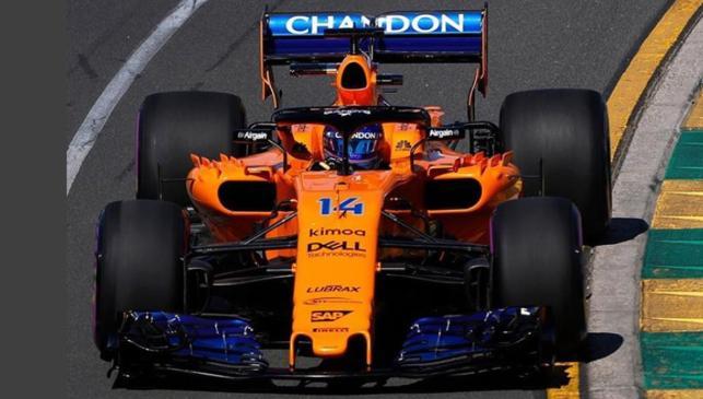 Alonso dándolo todo en Australia
