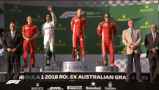 Podio Australia F1 2018