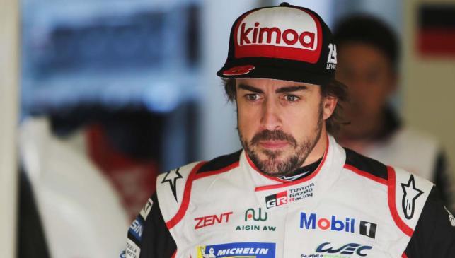 Fernando Alonso concentrado